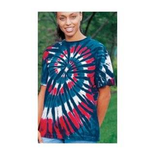 New Glory Spiral Patriotic USA Adult Tie Dye T shirt Tee Shirt Clothing