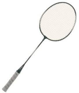 Champion Heavy Duty Steel Shaft Badminton Racket BLACK/SILVER GREY HEAVY DUTY STEEL SHAFT FRAME Sports & Outdoors