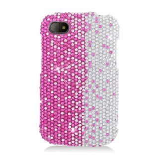 Eagle Cell PDBBQ10S322 RingBling Brilliant Diamond Case for BlackBerry Q10   Retail Packaging   Hot Pink/Silver Divide Cell Phones & Accessories