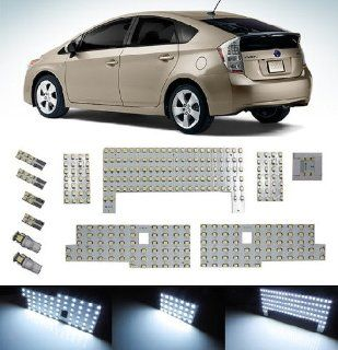 iJDMTOY 12PCS 326 SMD Exact Fit Full LED Light Package For Toyota Prius Interior Map Dome Side Door Lights, Trunk Area Lights, Parking Lights and License Plate Lights, Xenon White Automotive