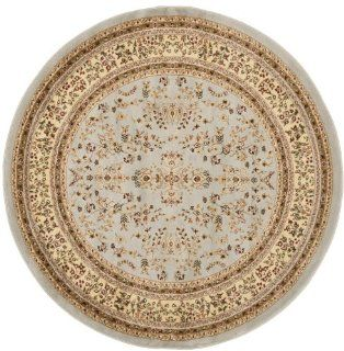 Safavieh LNH331G Lyndhurst Collection Round Area Rug, 6 Feet Diameter, Grey and Beige   Machine Made Rugs