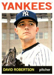 2013 Topps Heritage MLB Trading Card (In Protective Screwdown Case) # 339 David Robertson New York Yankees Sports Collectibles