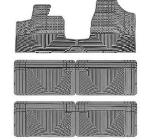 2008 2011 Chrysler Town & Country Van Grey WeatherTech Floor Mat (Full Set) Automotive