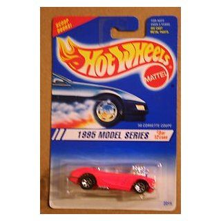 Hot Wheels 1995 Series #3 '58 Corvette Coupe Pink #341 Toys & Games