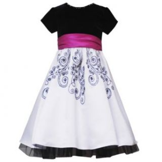 Rare Editions Little Girl 4 6X BLACK WHITE VELVET SATIN CAVIAR BEADED Special Occasion Wedding Flower Girl Holiday Pageant Party Dress 6X RRE 40870H H340870 Clothing