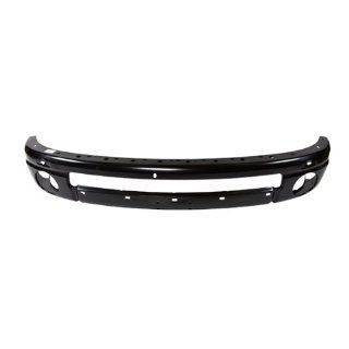 CarPartsDepot, Pickup Truck Front Black Steel Bumper Beam Reinforcement Assembly, 348 17431 10 CH1006185 55077960AC Automotive