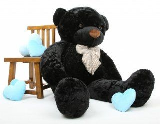 Juju Cuddles Beautiful Black Plush Teddy Bear 60in   Giant Teddy Bear Toys & Games