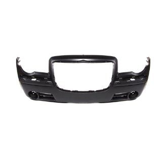 CarPartsDepot, Sedan 3.5L V6 Front Bumper Facial Cover Primered Black Without Washer, 352 161403 10 PM 4805773AC CH1000440 Automotive