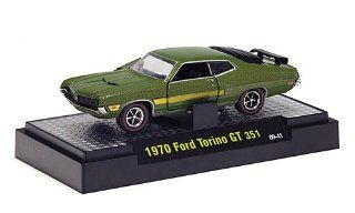 Ford Torino GT 351, met. green , 1970, Model Car, Ready made, M2 Machines 164 M2 Machines Toys & Games