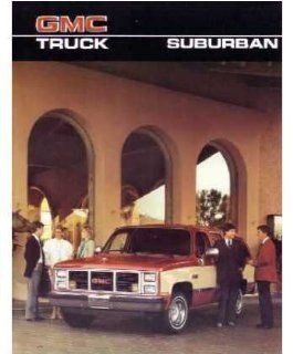 1986 GMC Suburban Sales Brochure Literature Piece Advertisement Specifications Automotive