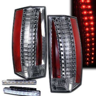 2007 2011 Cadillac Escalade Rear Brake Tail Lights Chrome+led Bumper Running (Not Fit Ext) Automotive