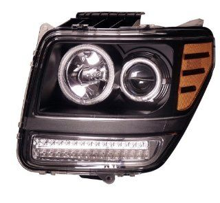 2007 2008 Dodge Nitro Projector Headlights Halo G2 Black Clear Amber with Led(ccfl) Automotive
