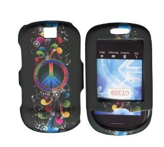 Rainbow Peace Samsung Smiley T359 T Mobile Case Cover Hard Phone Cover Case Faceplates Cell Phones & Accessories