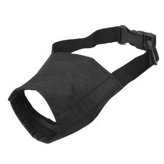 Black Adjustable Nylon Fabric Dog Muzzle  Pet Muzzles