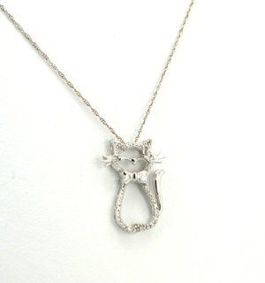 51001575 14K Yellow Gold Diamond Cat Charm Jewelry