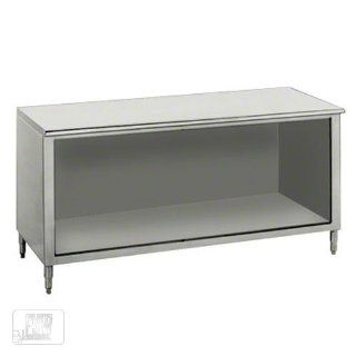 "14 Gauge Advance Tabco EB SS 368 36"" x 96"" Open Front Cabinet Base Work Table Kitchen & Dining"