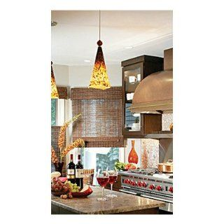 Ovation 1 Light Pendant Shade Color Tahoe Pine Amber, Glass Ball Shade Color Amber Ball, Finish Satin Nickel