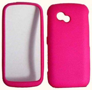 Hot Pink Hard Cover Case for LG Neon 2 Rumor Plus GW370 Cell Phones & Accessories
