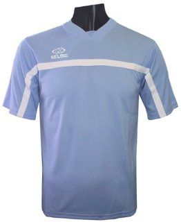 Kelme Pamplona Polyester Custom Soccer Jerseys  373 SKY BLUE/WHITE AS  Sports & Outdoors