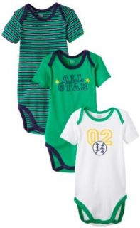 Gerber Baby Boys Infant Onesies Brand Bodysuit, Green/Blue, 24 Months Clothing