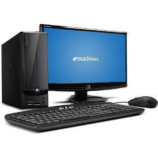 "Acer Black eMachines EL1360G UW12P Desktop PC with AMD Dual Core E 300 Processor, 2GB Memory, 20"" Monitor, 500GB Hard Drive, Windows 7 Home Premium Computers & Accessories"
