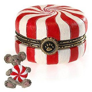 Boyds Bears Sugar's Peppermint Candy with Mintley McNibble Hinged Box 4022281   NEW   Collectible Figurines
