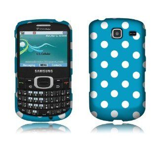 Samsung Freeform 4 R390 Blue/White Dots Cover Cell Phones & Accessories