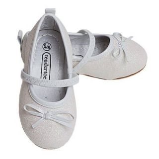 Toddler Girls White Glitter Dress Shoes 7/8 Luna International Shoes