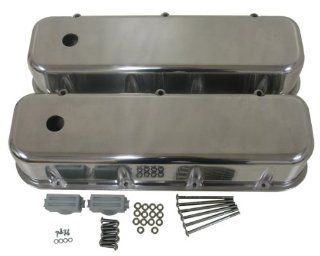1965 95 Chevy Big Block 396 427 454 502 Tall Polished Aluminum Valve Covers   Smooth Automotive