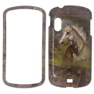 Samsung Stratosphere I405   Verizon Horses & Trees Colorful Painting Shinny Gloss Finish Hard Plastic Cover, Case, Easy Snap On, Faceplate. Cell Phones & Accessories