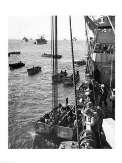 Army Soldiers military ship Normandy France D Day 6/6/1944 Poster 18x24   Prints