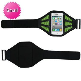 MYBAT Vertical Pouch Universal Hot Pink Sport Armband (with Baby Green Mess Ports)(403)(NO Package) for APPLE iPhone 4S/4 APPLE iPod touch (4th generation) APPLE iPhone 3GS/3G SAMSUNG R920 (GALAXY ATTAIN 4G) SAMSUNG T769 (Galaxy S Blaze 4G) SAMSUNG I777 (G