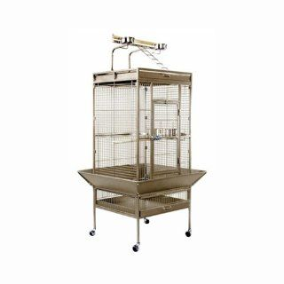 Prevue Hendryx Medium Wrought Iron Top PlayPen Select Bird Cage With Garnet Red Metallic Finish