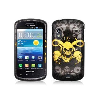 Black Yellow Skull Hard Cover Case for Samsung Galaxy S Stratosphere SCH i405 Cell Phones & Accessories