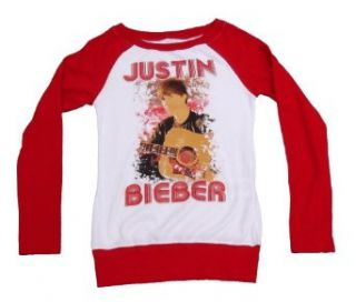 Justin Bieber Girls Long Sleeve Shirt (10 12) Clothing