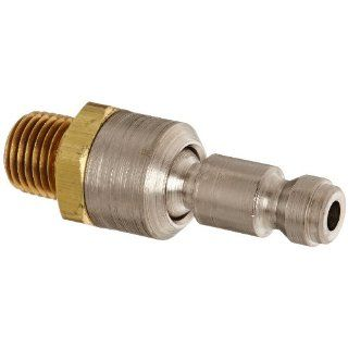"Dixon Valve DCP1SWIV Brass Ball Swivel Plug, 1/4"" NPT Male Ball Swivel x 1/4"" Automotive Plug"