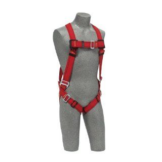 Protecta PRO, 1191379 Fall Protection Full Body Welders Harness With Back D Ring, Pass Thru Legs, 420 Pound Capacity, Medium/Large, Red/Black