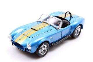 1966 Shelby Cobra 427 S/C in Blue and Gold by The Franklin Mint in 124 Scale Toys & Games