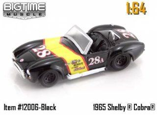 Jada Dub City Big Time Muscle Black Racing 1965 Shelby Cobra 427 S/C 164 Scale Die Cast Car Toys & Games