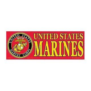 US Military Armed Forces Bumper Sticker   USMC Marines   United States Marine Corps Seal Logo Automotive