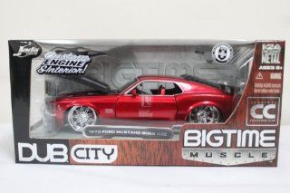1970 Ford Mustang Boss 429 124 New Diecast Car Red Toys & Games