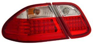 Mercedes Benz Clk 320 430 W208 98 03 L.E.D Tail Lamps / Lights Red/Clear Euro Performance Automotive