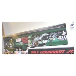 Dale Earnhardt Jr #88 AMP Black Green Stripes Energy Paint Scheme Hauler Trailer Semi Tractor Trailer Truck Rig Transporter 1/64 Scale Winners Circle Edition Toys & Games