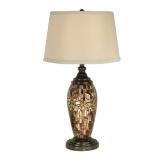Dale Tiffany Mosaic Oval Art Glass 1 Light Table Lamp