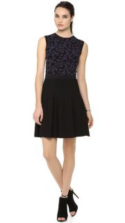 Rebecca Taylor Ribbed Fit & Flare Dress