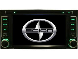 "Scion tC 2005 2011 In Dash Double Din 6.5"" Touchscreen LCD Multimedia Navigation System Radio  iPod Aux SD USB CD DVD"