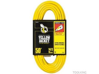Woods 2887 50 Foot Yellow Jacket 3 Conductor 14 Gauge Power Cord