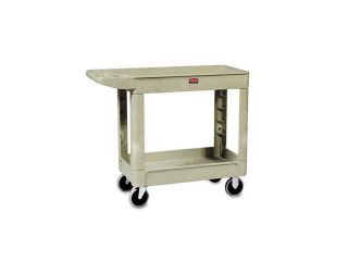 Rubbermaid Commercial 450088BG Heavy Duty Utility Cart, 2 Shelf, 17 7/8w x 39 1/4d x 33 1/4h, Beige