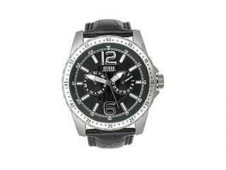 Guess WaterPro Leather Multifunction Black Dial Men's watch #U11628G1