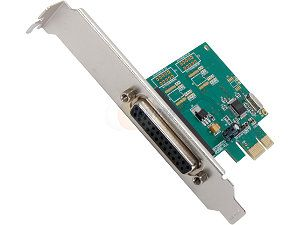 SYBA Parallel 1 Port PCI e Controller Card with Full & Low Profile Brackets, WCH382L Chipset Model SI PEX10010